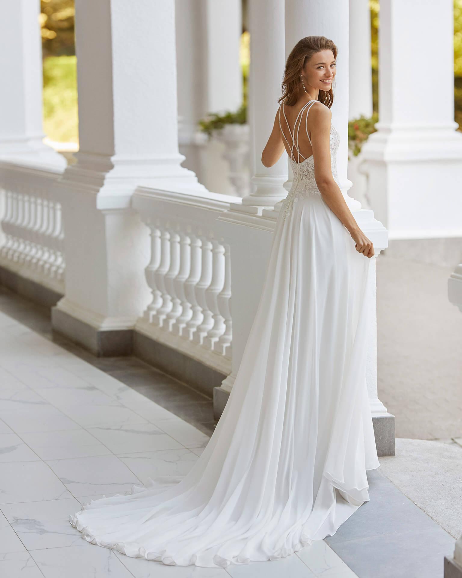 Braut in einem Vintage Brautkleid